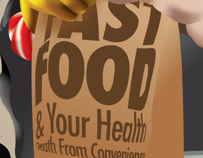 Editorial Illustration - Fast Food & Your Health