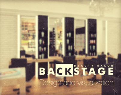 Backstage beauty salon. Design and visualization