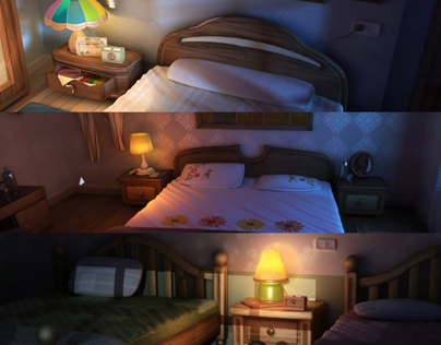 Cartoon series | Bedroom locations