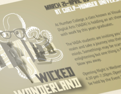 Wicked Wonderland - Poster and Invite design