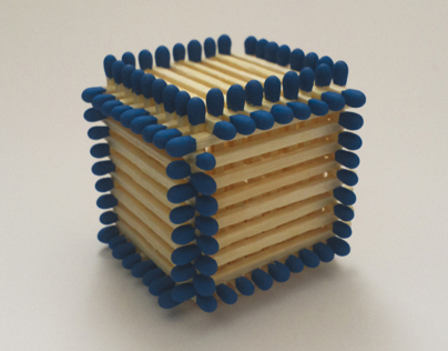 A cube from matchsticks