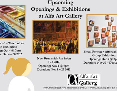 Alfa Art Gallery Upcoming Events Fliers and Poster