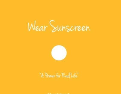 Book Design - Wear Sunscreen