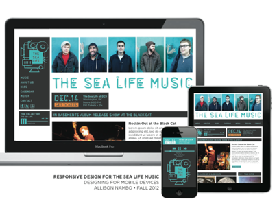 Responsive Site Design: The Sea Life Music