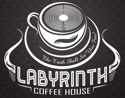 Intricate Logo Design: Labyrinth Coffee House