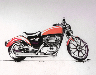 Harley-Davidson Ink drawing