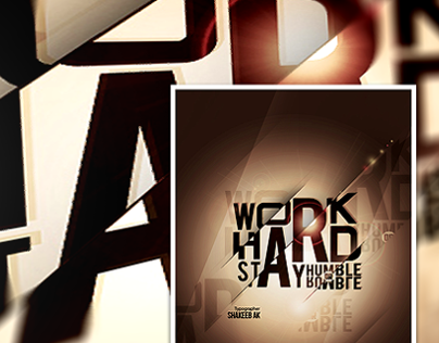 Work Hard - Typography