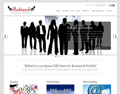 Refined Business Wordpress Theme