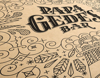 Papa Gede's Bar Sydney Branding and Typography