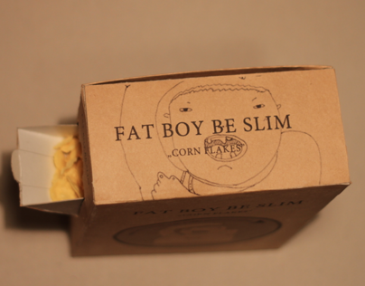 FAT BOY BE SLIME | corn flakes box