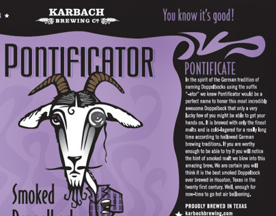 Karbach Brewing Company: Pontificator Label Design