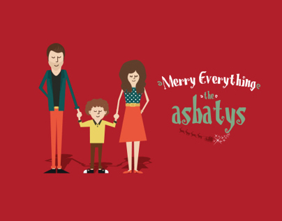 The Asbatys Christmas card