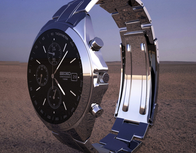 SEIKO watch 3D