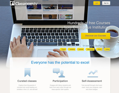 Classroom.tv new landing page