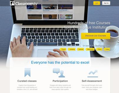 Classroom.tv new landing page