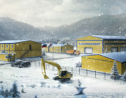 Prefabricated construction in Syberia