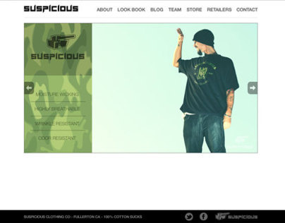 Web design for skate clothing industry