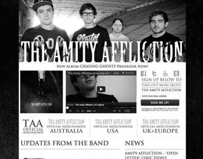 The Amity Affliction Band Page