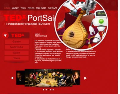 TEDx portsaid website