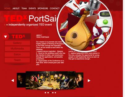 TEDx portsaid website