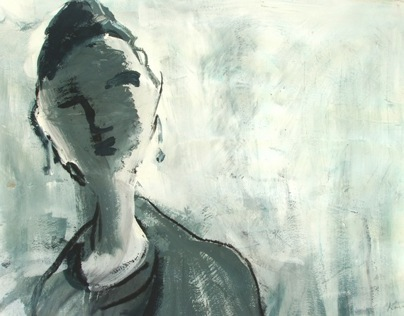 Tempera and Charcoal Portraits
