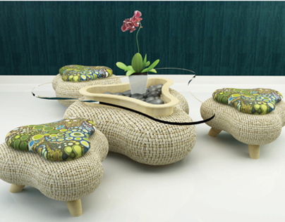 Batik Coffee Table Set