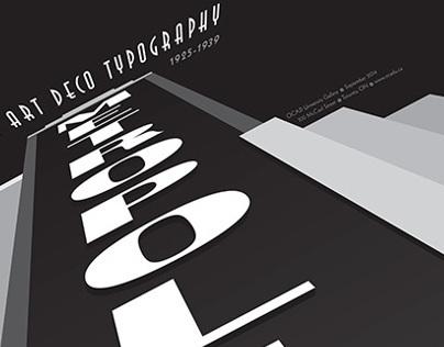 Art Deco Typography Exhibition Poster