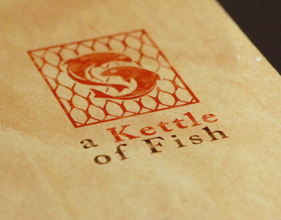 A Kettle of Fish Restaurant Menu Design