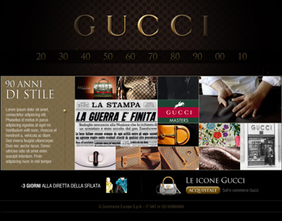 Gucci 90 years (proposals)