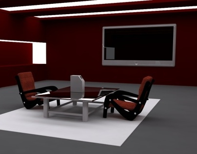 C4d Room Test Render