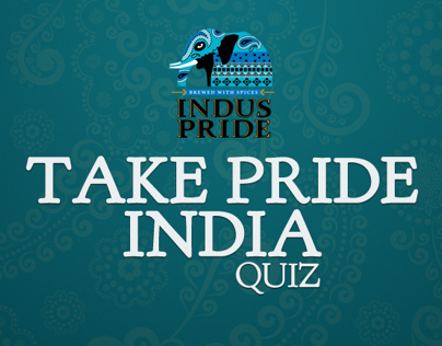 Indus Pride 'Take Pride India' quiz  FB Tab UX Design