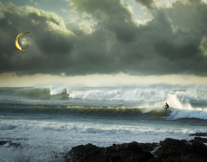 Kite Surfing and Photoshop