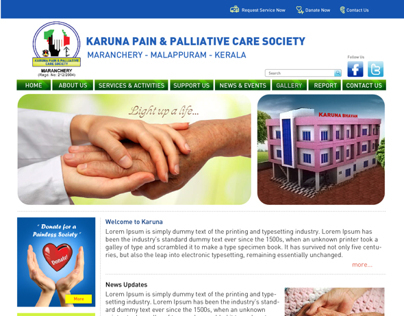 Karuna Website Layout