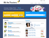 We The Teachers community portal UI and wireframes