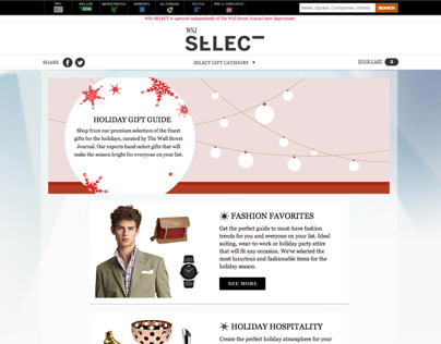 WSJ SELECT GIFT GUIDE 2012 - Website