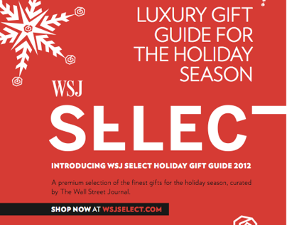 WSJ SELECT GIFT GUIDE 2012 - Advertising