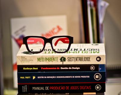 Óculos marcador de páginas