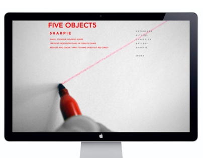 Five object5 website
