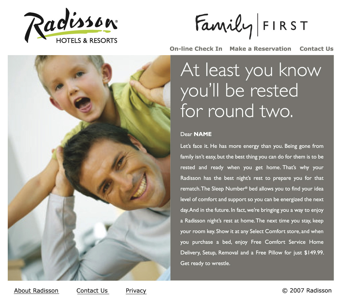 Radisson and Country Inn Email Campaign