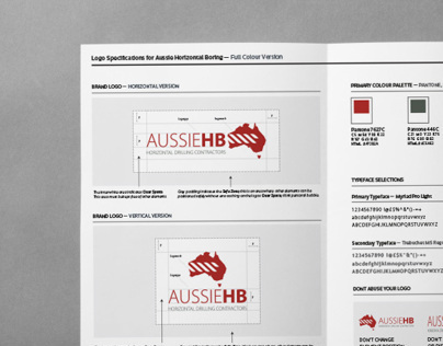 Logo Design & Specifications for AussieHB