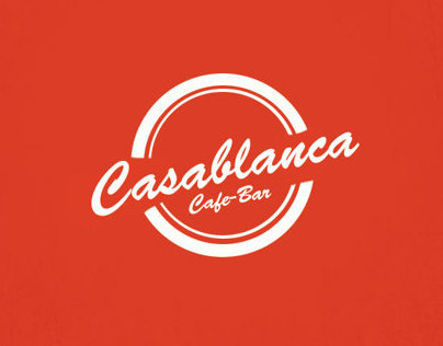 Casablanca Retro Simple Logo