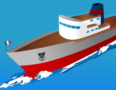 Ship Vector Illustration