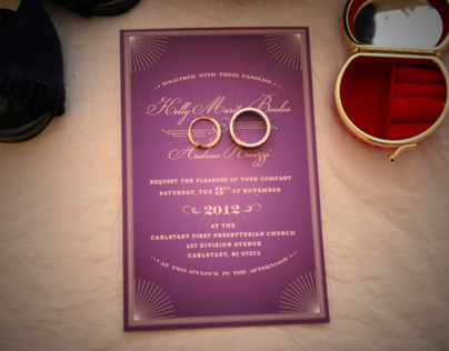 Boulos - Rivezzi Wedding Invitation