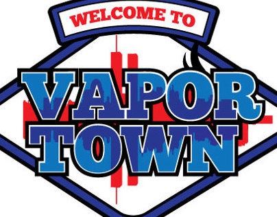 Vapor Town - Sign & Logo