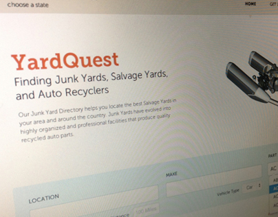 YardQuest - Landing page redesign