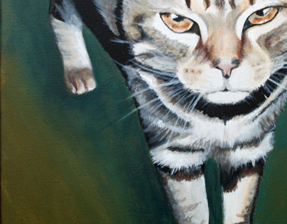 Pet Portraits in Acrylic