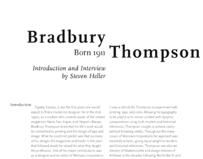Bradbury Thompson spreads