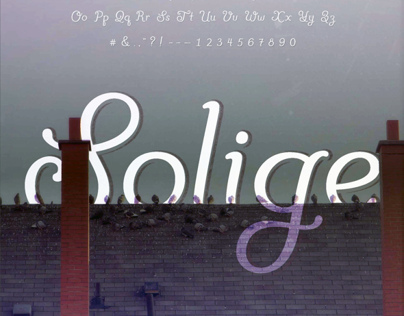Solige - A Typeface in Progress