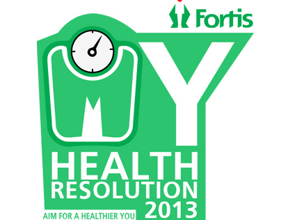 My Health Resolution 2013 Facebook Tab UI (Fortis)
