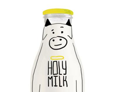 Holy milk - packaging milk